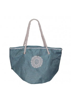 BAG CIRCLE CROCHET GREEN