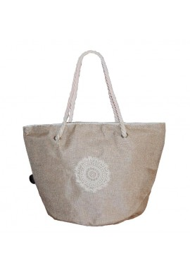 BAG CIRCLE CROCHET BEIGE