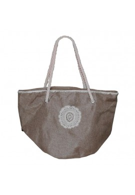 BAG CIRCLE CROCHET BROWN