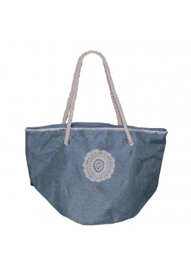 BAG CIRCLE CROCHET BLUE