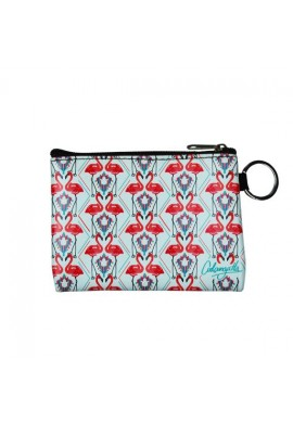 PURSE ZIP FLAMINGO