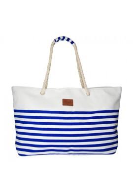 BEACH BAG LINES BLUE/WHITE