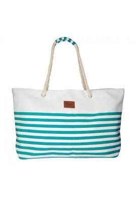 BEACH BAG LINES GREEN/BLUE